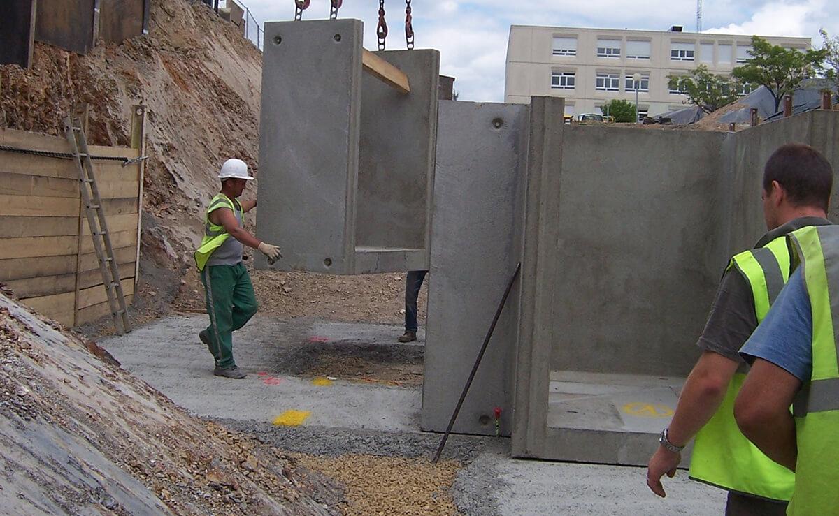 CHU Angers travaux publics préfa béton
