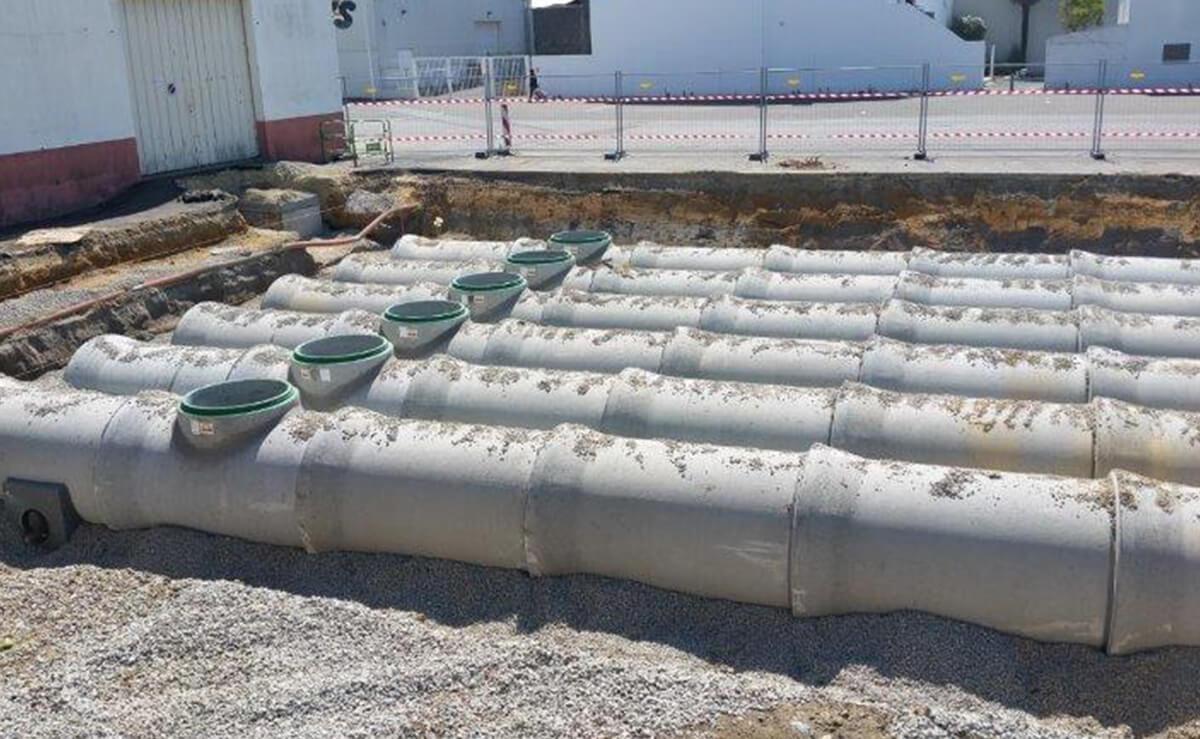 Travaux publics d'assainissement à Montaigu
