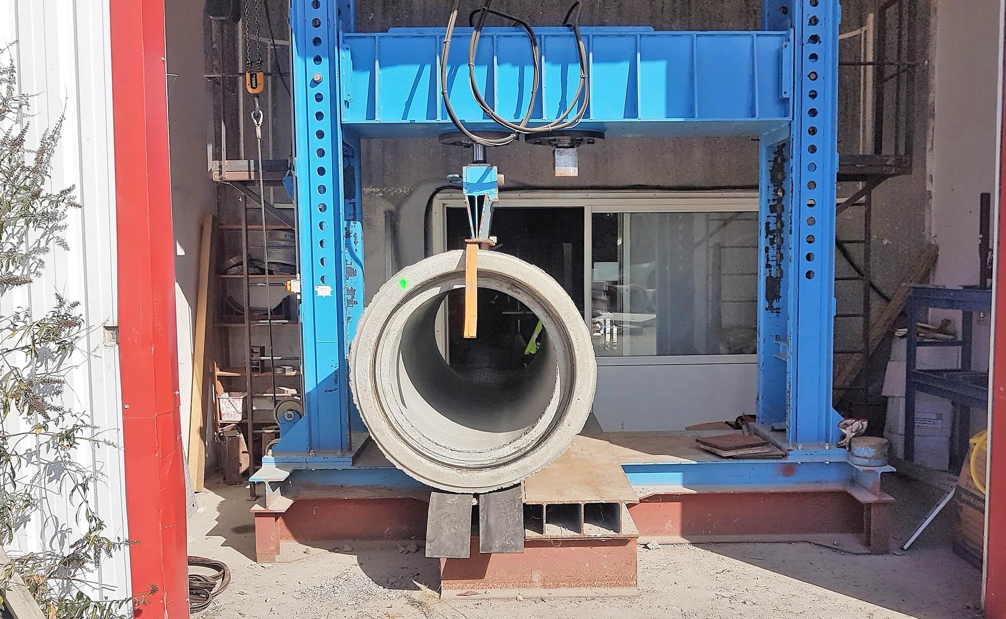 Essai mécanique tuyau béton