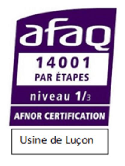 AFAQ 14001 environnement usine LIBAUD luçon